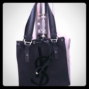 "Yves Saint Laurent Black ""Mini Kahala"" BagTote NWT"